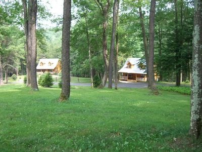 Brookside Lodges Estate features two cabins - Brookside Cabin and Fern Cabin.