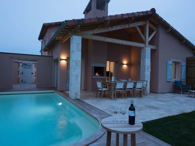 Photo for New luxury 3 bedroom villa with pool and large garden on Chateau Estate