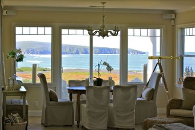 Dining Room with Ocean views from Tomales Point to Bodega head