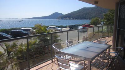 Photo for Uninterrupted views of Shoal Bay and just 50 metres to cafes and restaurants.