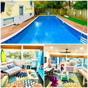 Huge Pool - Great Location! 3 Blocks to Beach! Sleeps up to 15! Filled With Fun!