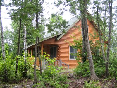 Prong Mountain Cabin - Sited in privacy and overlooking the pond and mountains.