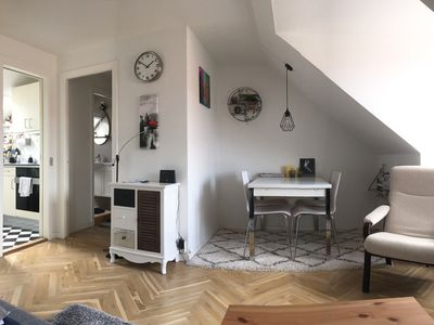 Photo for Cozy and beautifully lit attic with easy commuting to the city centre