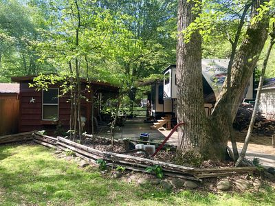 Photo for Glamping/Tiny cabin with Chattahoochee River access