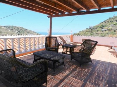 Photo for Luxury private villa, sea and mountain views 5 mins from beach. WIFI, Air-con