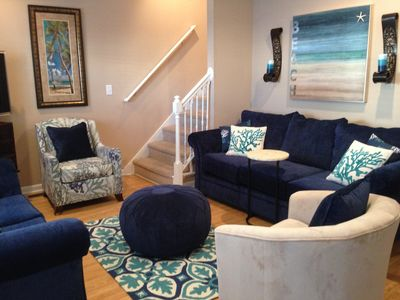 Living Room New Furniture, Beautiful Coastal Beach Decor!