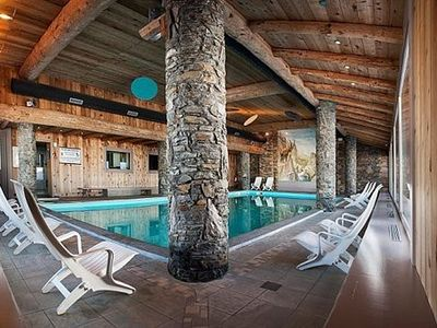 Photo for Luxury 4-star apartment sleeps 6 with pool in Plagne Aime 2000