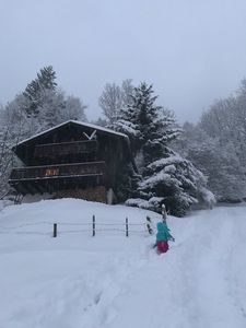 Photo for Beautiful private chalet in Valais in a ski resort