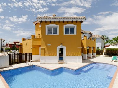 Photo for Luxury 4 Bedroom Villa, Large Heated Pool, Integrated Jacuzzi
