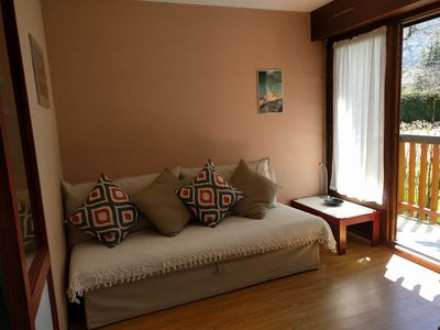 Photo for Saint Lary Soulan: Cosy, south facing studio in great location