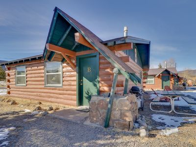 Photo for Dog-friendly log cabin w/ shared hot tub & entertainment - easy ski access!