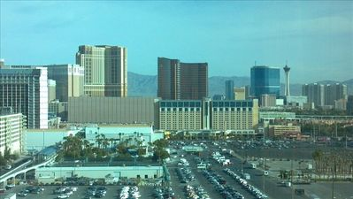 View to the north includes Venetian, Palazzo, Wynn/Encore & Stratosphere!