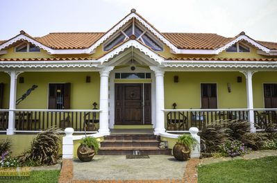View of the front of the villa.
