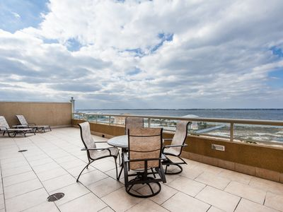Photo for Portofino's Best Water Views! 800 sq.ft balcony in newest tower! Best Fall Rates