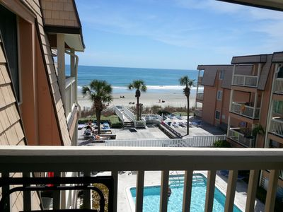 Photo for Beach House 302, Oceanview Condo overlooks Pool and Ocean on North Waccamaw Dr