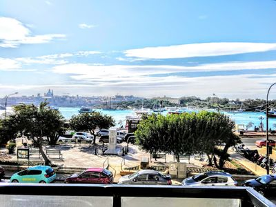 Photo for Sliema Promenade, Seafront with Valletta view