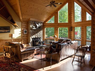 Photo for Luxury Log Cabin Style Family Ski Lodge 15 Minutes From Sunday River Ski Resort