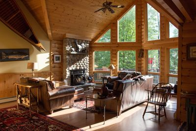 Luxury Log Cabin Style Family Ski Lodge 15 Minutes From Sunday River Ski Resort Bethel