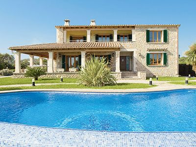 Photo for Majorcan stone house w/ private drive, infinity pool + shaded terrace