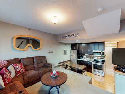Photo for NEW LISTING! Ski-in/ski-out condo w/ shared pool/hot tub/sauna - in Sunday River