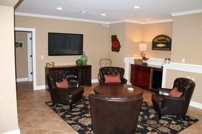 """Hospitality Suite/Terrace level 60"""" TV with surround sound stereo.  Just relax."""