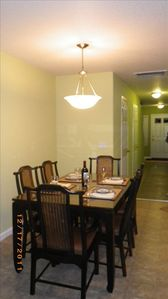 Dining area and hallway to front door