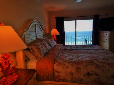 Master King Bed.  Wake up to this beachfront view!