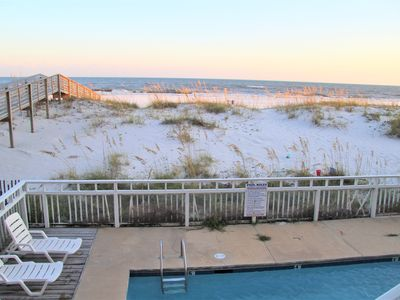 Photo for BEACHFRONT W/ POOL- Sleeps 21!  Great Location!