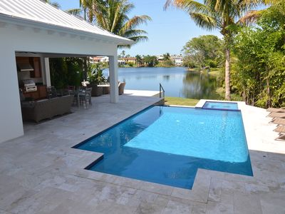 Photo for Old Naples Lakefront Home -  Easy walk to beach and 5th Ave shopping and dining.