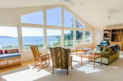Living Area - Located near the tip of Camano Island, this incredible property has the best views of the water that Pacific Northwest has to offer!