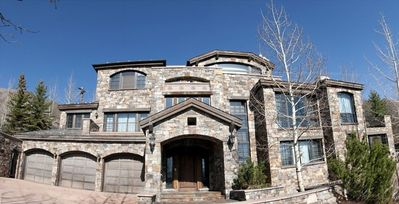 Private, Gated, Red Mountain Luxury Chateau.  Impressive stone architecture.
