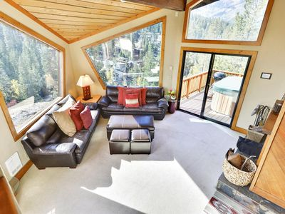 Photo for Luxurious Summer Home with a Private Hot Tub on the Deck Overlooking Panoramic Views of Alpine Meadows. Perfect Central Location Between Squaw and Tahoe City.