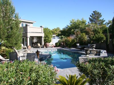 Photo for Teams, Families, Executives. Pool, Jacuzzi, 2 Homes 10 bdrms, Gated Trop Acre!