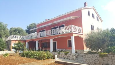 Photo for Two bedroom apartment with terrace and sea view Lun, Pag (A-11781-a)