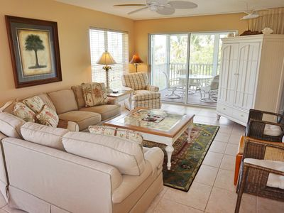 Photo for Comfortable bayside villa with easy dock access, B5222B
