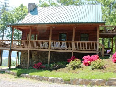 Photo for Luxury Lake Cabin by New River Trail w/ Dock/Canoes/Steam Room/Fireplaces...