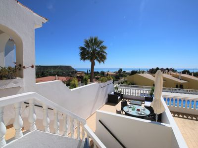 Photo for Condominium with communal pool with 2 bedrooms and 2 bathrooms with sea view
