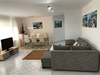 A nice clean well laid out apartment in a quiet area. All the rooms feel spacious and airy.
