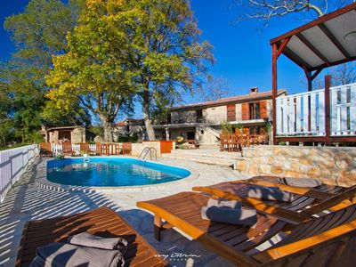 Photo for Beautiful villa with private pool in Labin - Rabac