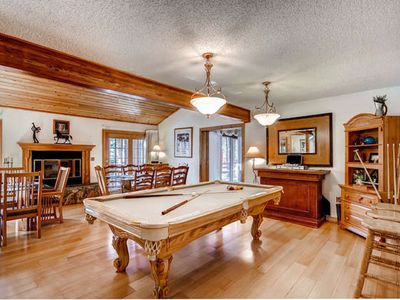 Photo for Tomahawk Lodge: Large In town home:  Hot Tub, Sauna, Pool Table!