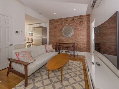Photo for Stylish 2 BR Flat w/Backyard Near Grove St. PATH