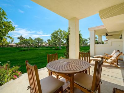 Photo for Palmer Riviera Oasis at PGA West, Fairway location & Mountain Views, Steps from Pool & Spa