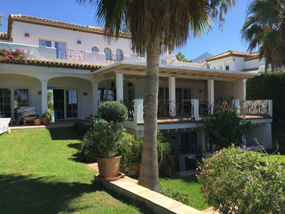 Photo for Great Summer Holiday Villa in Marbella, secured setting just above Puerto Banus