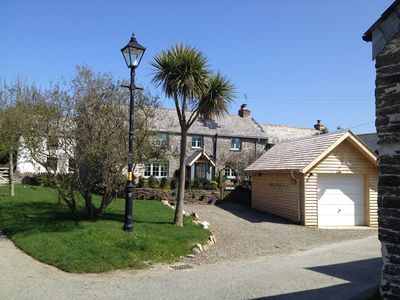 Photo for Luxury stone cottage sleeps 6, tucked away in quiet farming village near Padstow