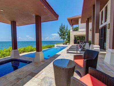 """Photo for """"LIVING WATERS ROATAN"""" CAMP BAY BEACH LUXURY OCEANFRONT VACATION VILLA"""