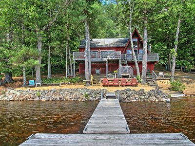 Photo for Lakefront Cottage w/ Private Dock - Great Fishing!