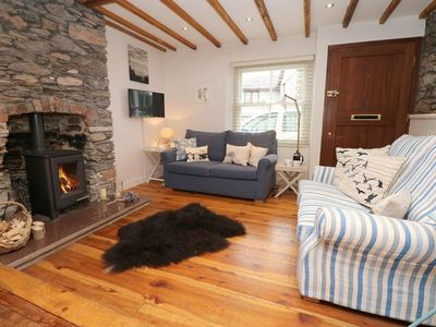 Photo for QUAYSIDE, pet friendly, with open fire in Cargreen, Ref 980695