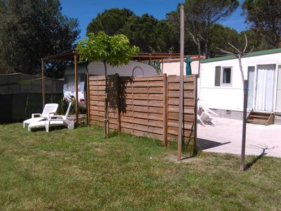 Photo for Holiday by the sea, Grau d'Agde: mobile home + caravan + permanent building