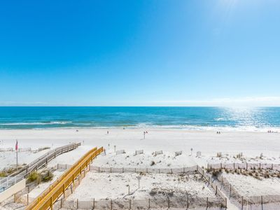 Photo for #403 Updated Direct Gulf Front 1 Bedroom w/ Bunks Heated Indoor Pool