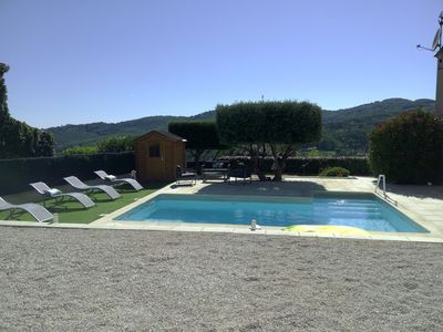 Photo for Villa 140m2, bright and air conditioned, quiet. Unobstructed view of the hills.